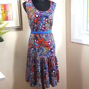 Roz & Ali Colourful Tank Ruffle Dress